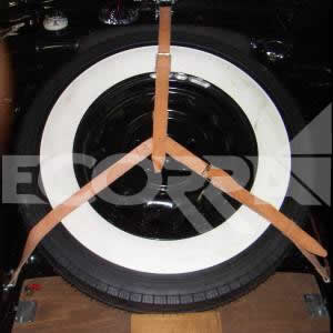 Tatra 600 - Leather spare wheel straps T600