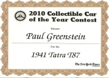 2010 Collectible Car of the Year Contest